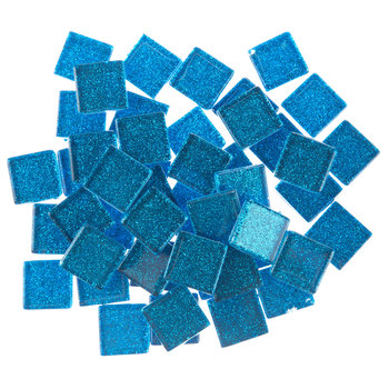 Indigo Glitter Mosaic Tiles - 20mm